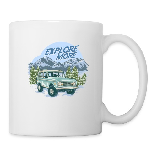 Bronco Truck Explore more II Graphic T-Shirt - Coffee/Tea Mug