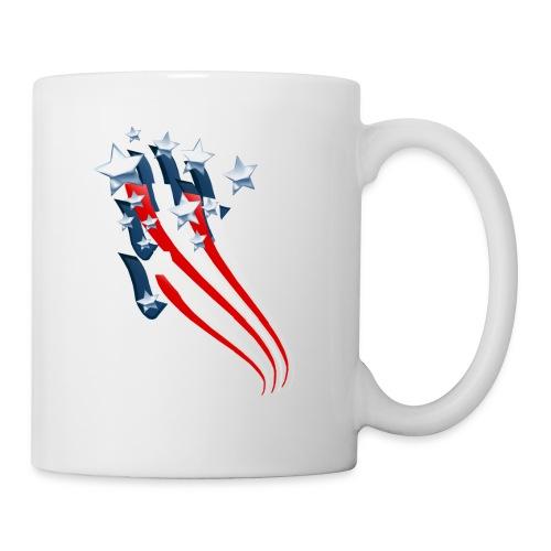 Sweeping American Flag - Coffee/Tea Mug