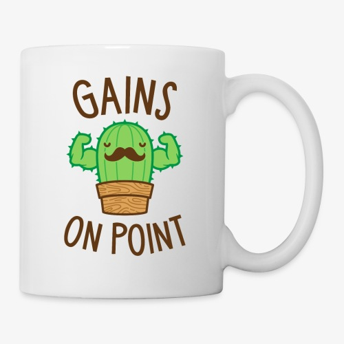 Gains On Point (Cactus Pun) - Coffee/Tea Mug