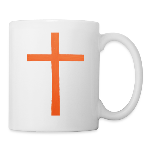 Orange Cross Jesus Rock Design AVE - Coffee/Tea Mug