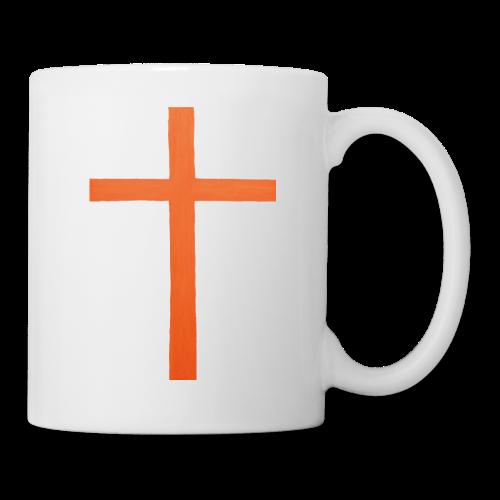 Orange Cross Jesus Rock Design AVE - Coffee/Tea Mug