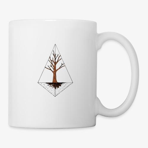 Hand drawn tree in a kite shaped outline - Coffee/Tea Mug