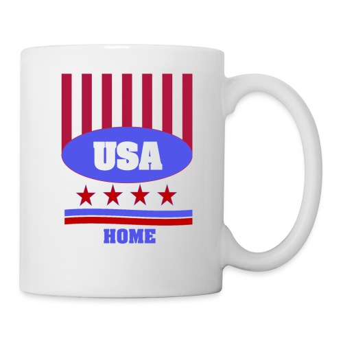 USA Flag T Shirt - Coffee/Tea Mug