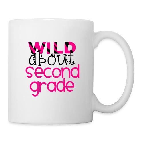 Wild About Second Grade Funky Teacher T-shirt - Coffee/Tea Mug