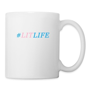 Lit Life Design Pink & Blue - Coffee/Tea Mug