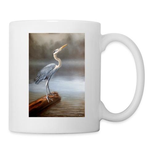 Blue Heron Wildlife Painting Print - Coffee/Tea Mug
