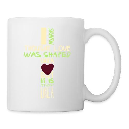 love is shaped like this - Coffee/Tea Mug
