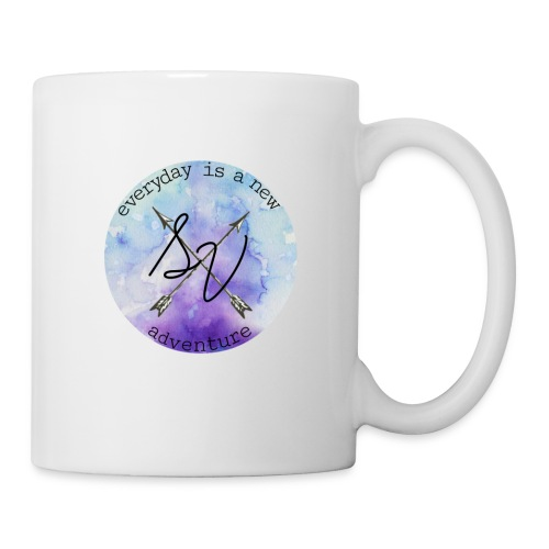 everyday is a new adventure logo - Coffee/Tea Mug