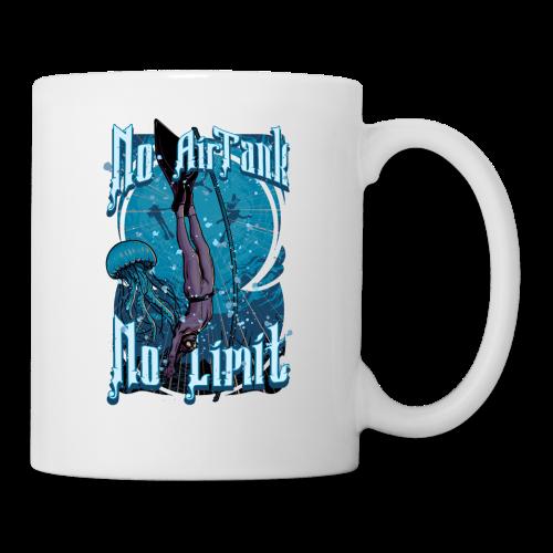 No Air Tank No Limit Freediving merchandise - Coffee/Tea Mug