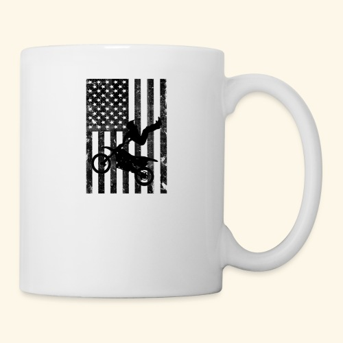American Flag (Black and white) - Coffee/Tea Mug