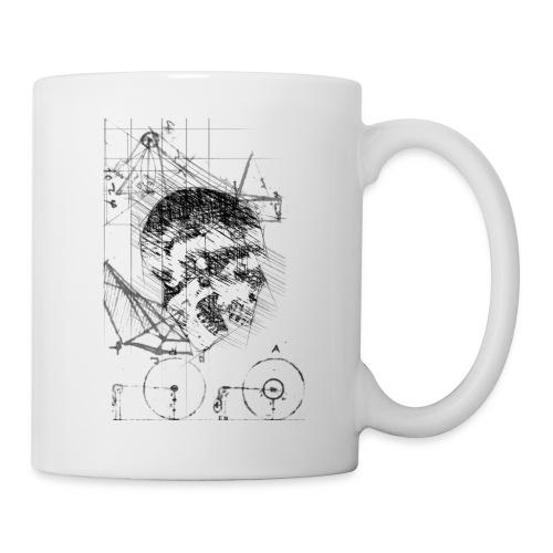 Skull Da Vinci Sketch Style - Coffee/Tea Mug