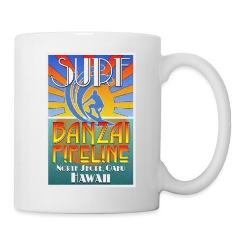 Banzai Pipeline, North Shore, Oahu, Art Deco Style - Coffee/Tea Mug