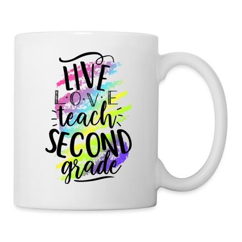 Live Love Teach 2nd Grade Teacher T-shirts - Coffee/Tea Mug
