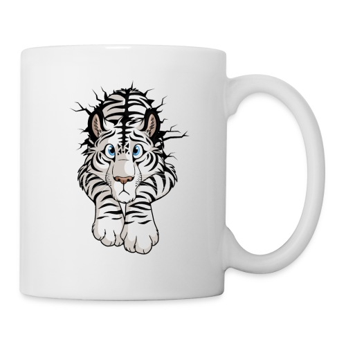 STUCK Tiger White (double-sided) - Coffee/Tea Mug