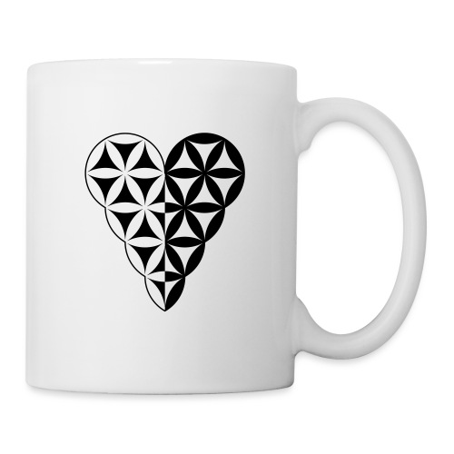 Dual Heart, Male-Female Duality. Vector image. - Coffee/Tea Mug