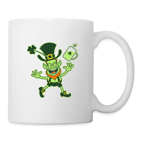 Euphoric Leprechaun Celebrating St Patrick's Day - Coffee/Tea Mug