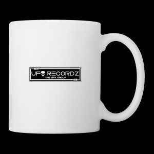 Black on White UFO Recordz - Coffee/Tea Mug