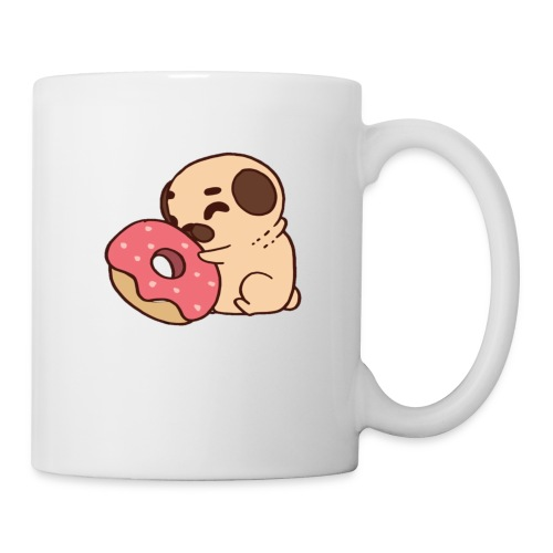 Dog Hugging Donut - Coffee/Tea Mug