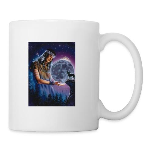 Indian Woman moon Wolf - Coffee/Tea Mug
