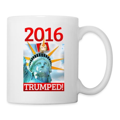 2016 TRUMPED! - Hillary Trumped by Lady Liberty - Coffee/Tea Mug