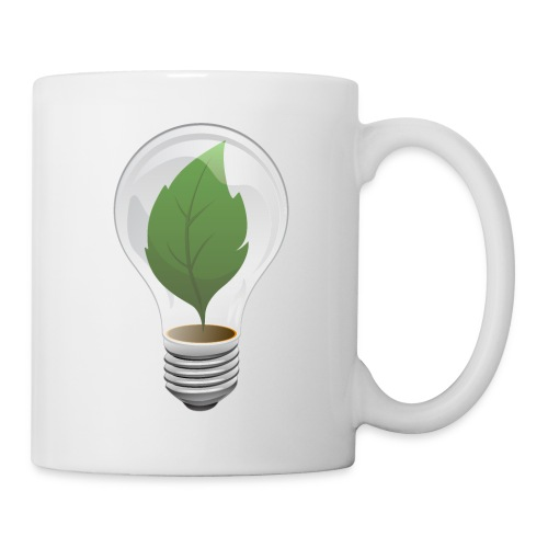 Clean Energy Green Leaf Illustration - Coffee/Tea Mug