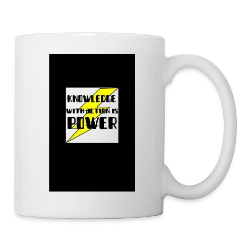 KNOWLEDGE WITH ACTION IS POWER! - Coffee/Tea Mug