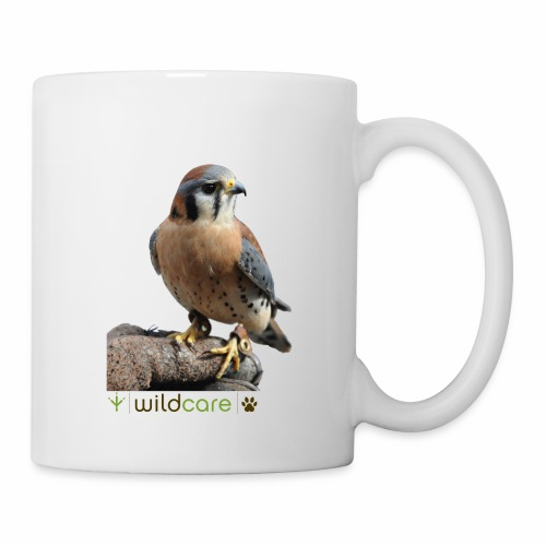 WildCare's non-releasable ambassador Kestrel Kele - Coffee/Tea Mug