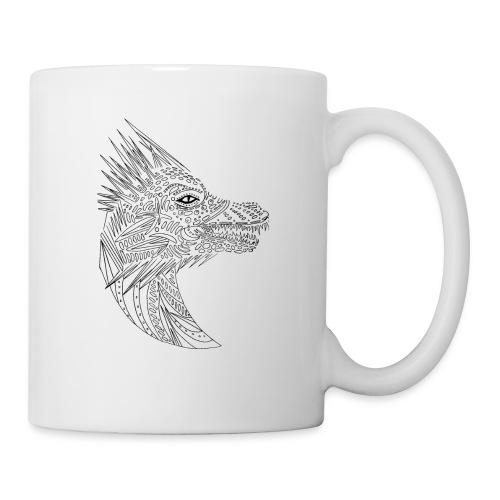 black art deco dragon head - Coffee/Tea Mug