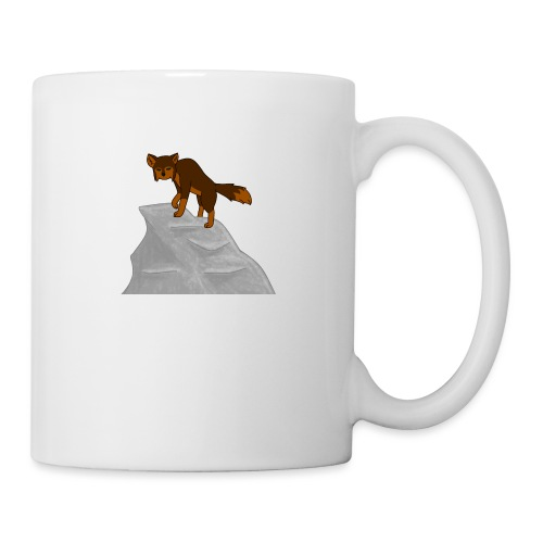 Wolf looking down on Boulder - Coffee/Tea Mug