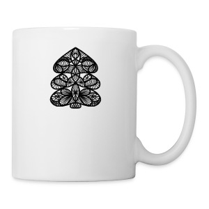 Simple Victorian Lace Design Christmas Tree - Coffee/Tea Mug