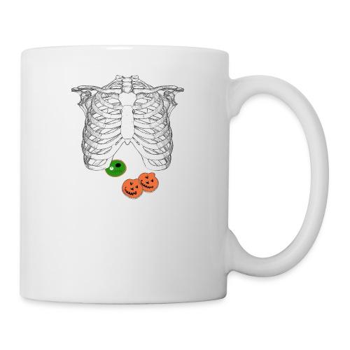 Halloween Trick o Treat Skeleton Donut Lover Shirt - Coffee/Tea Mug