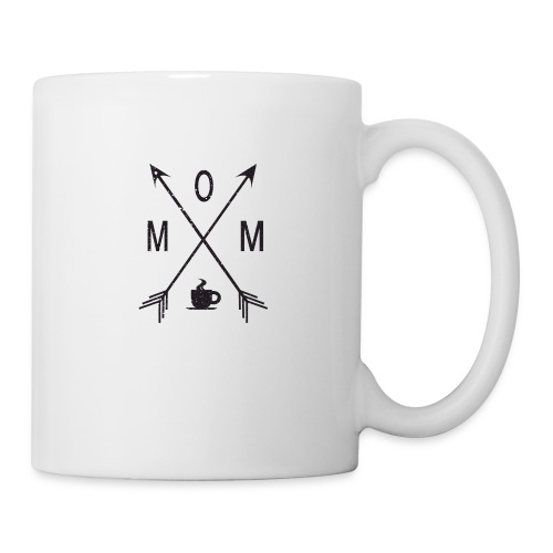 Mom Loves Coffee (black ink) - Coffee/Tea Mug