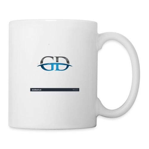 stock vector gd initial company blue swoosh logo 3 - Coffee/Tea Mug