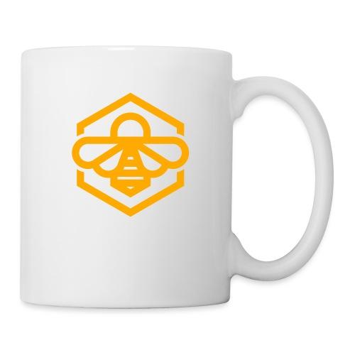 bee symbol orange - Coffee/Tea Mug