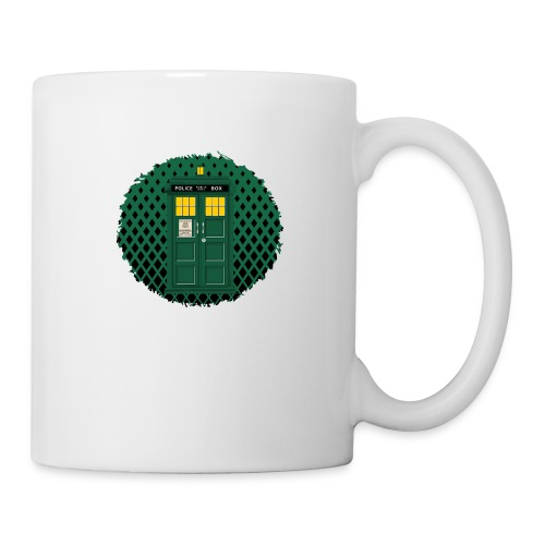 Green Phone box art - Coffee/Tea Mug