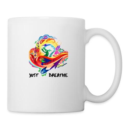 Just Breathe (Black Words) - Coffee/Tea Mug