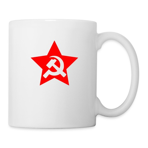 red and white star hammer and sickle - Coffee/Tea Mug