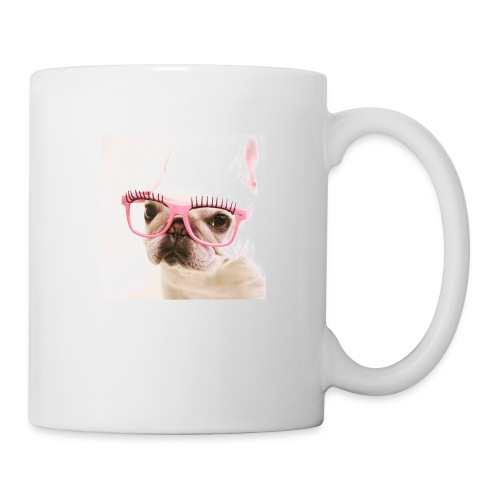 Cute dog wearing pink glasses - Coffee/Tea Mug