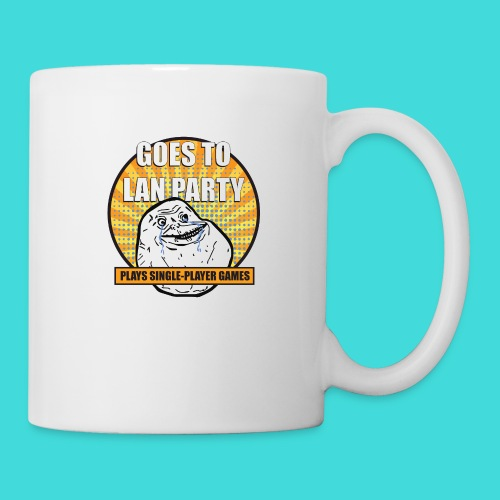 lanparty_singleplayer_meme - Coffee/Tea Mug