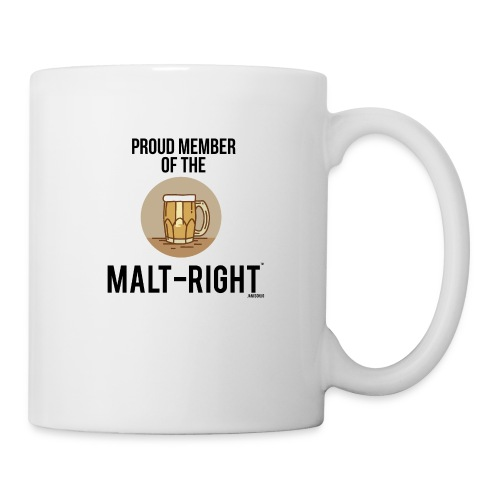 MALT-RIGHT BROWN BACKGROUND - Coffee/Tea Mug