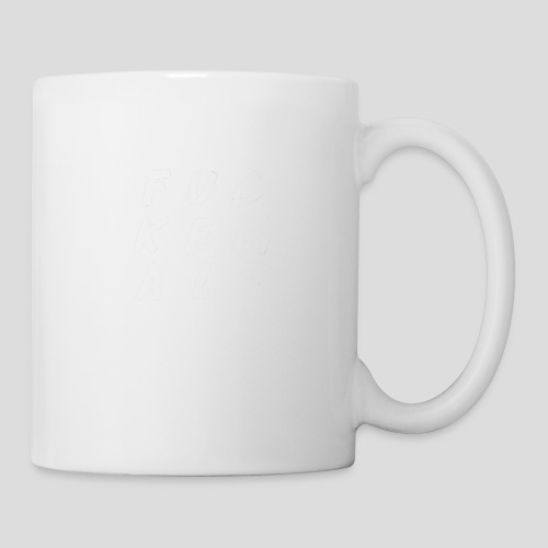 FUCKEMALL White Logo - Coffee/Tea Mug