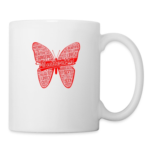BUTTERFLY WORD RED - Coffee/Tea Mug