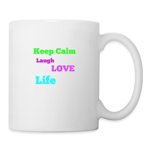 Keep Calm, Laugh, Love Life - Coffee/Tea Mug
