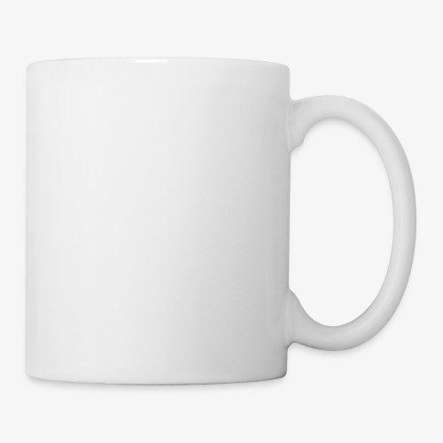 QuincyIsCrispy Text Logo (White) - Coffee/Tea Mug