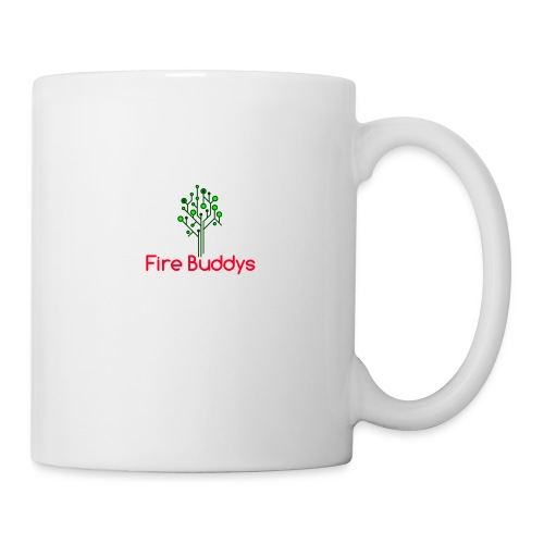 Fire Buddys Website Logo White Tee-shirt eco - Coffee/Tea Mug