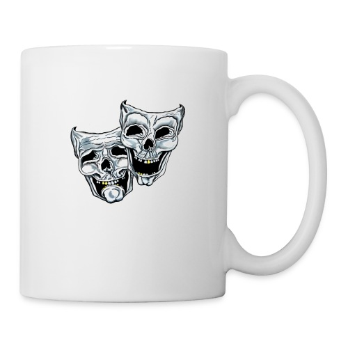 COMEDY TRAGEDY SKULLS - Coffee/Tea Mug