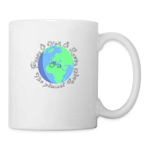 Peace and war and love on the planet earth - Coffee/Tea Mug