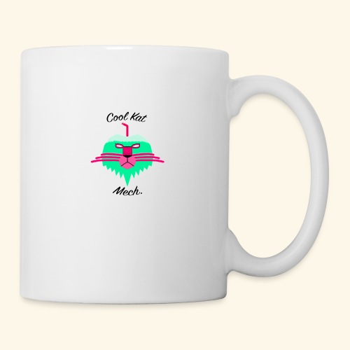 Cool Kat Mech. (Neon Glow) - Coffee/Tea Mug