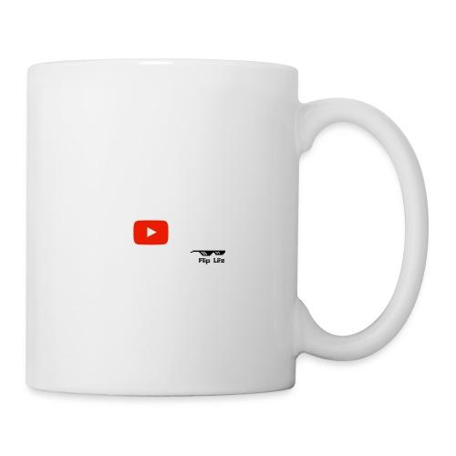 Flip It White Design T-Shirt - Back Flip Inverted - Coffee/Tea Mug