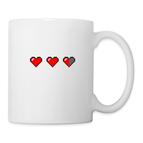 3 pixelhearts, damaged - Coffee/Tea Mug